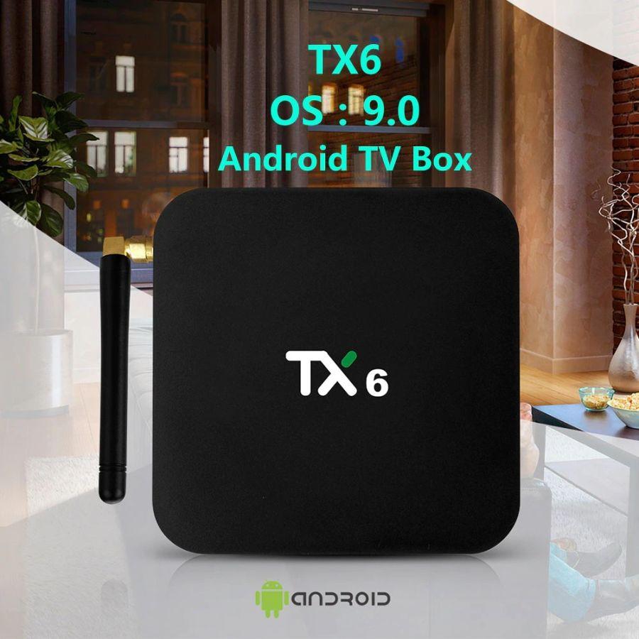 TX6 Smart TV BOX Android 9.0   Quad core ARM Cortex-A53   USB3.0 DDR3 4GB Ram 32 GB Rom 2.4G/5G Dual WIFI Bluetooth 4.1 4K Media player
