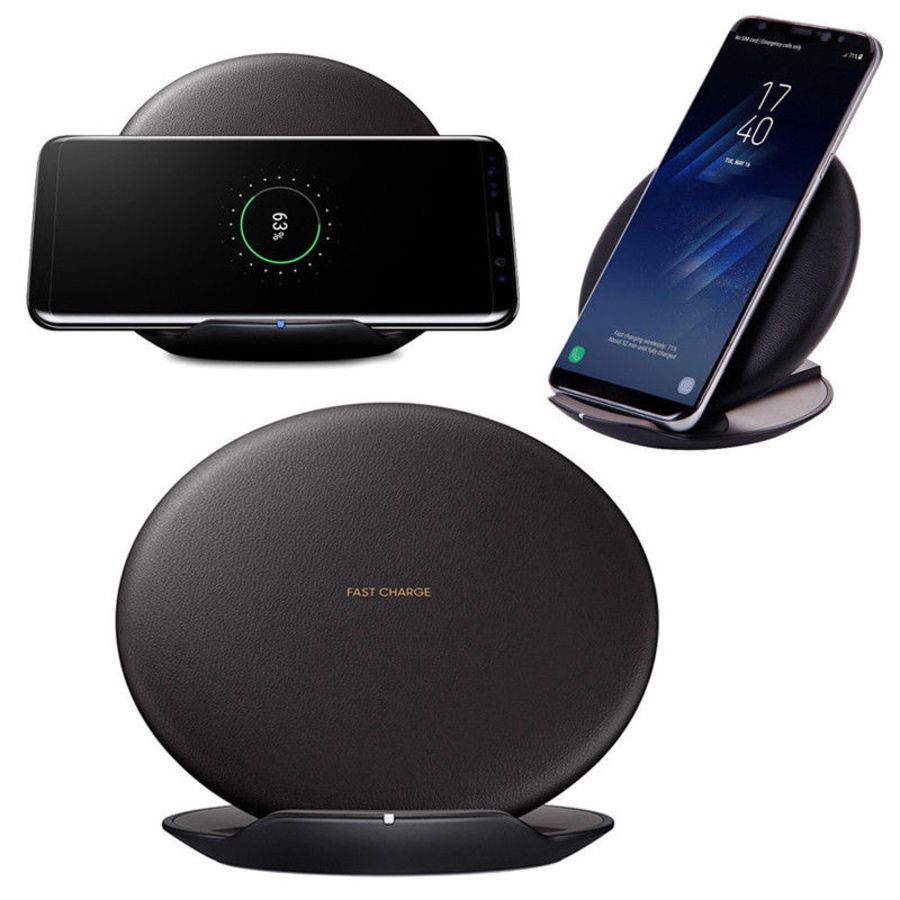 Qi Fast Wireless Charger Charging Stand for Samsung Galaxy S8/S8 Plus Holder Pad