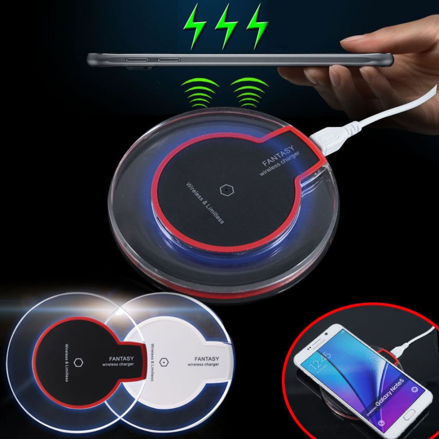 Fantasy Clear Qi Wireless Charger Charging Pad Mat For Samsung Galaxy iPhone