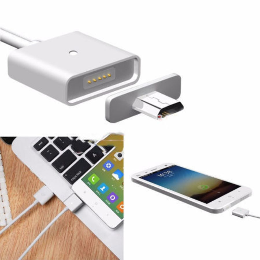 Magnetic Micro Usb fast Charging Data lead Sync 1M Cable HTC Samsung LG