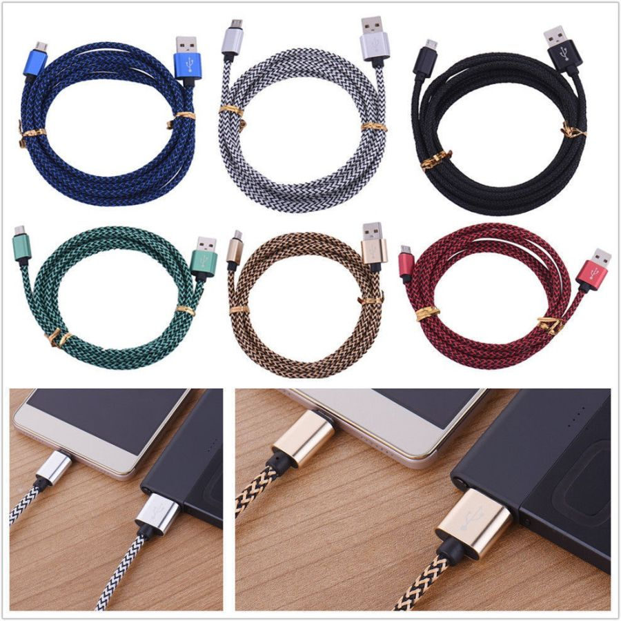 Strong Braided USB Lightning Charger 3M Cable Lead for Samsung galaxy and Tablet