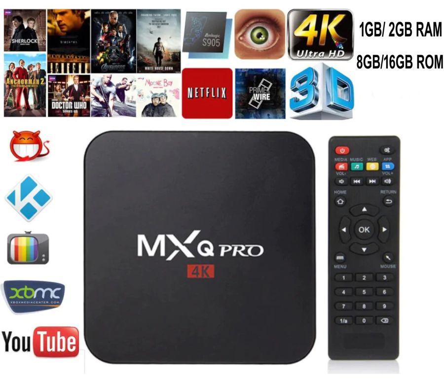 Mxq Pro Android 7.1 Smart Tv Box 4k Quad Core Rk3229 Wifi 1080p 64bit Iptv Kodi