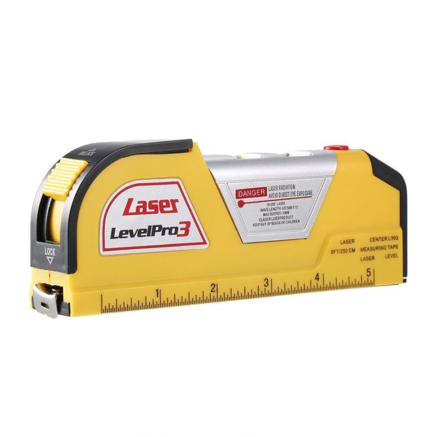 LV2 Multi-functional Infrared Laser Level Ruler Horizontal Meter Tape Scale Measure Instrument
