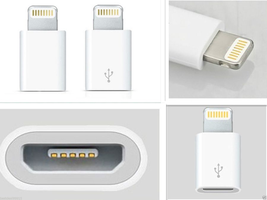 Micro USB to Lightning 8Pin Adapter Converter For Apple 5 TO X11