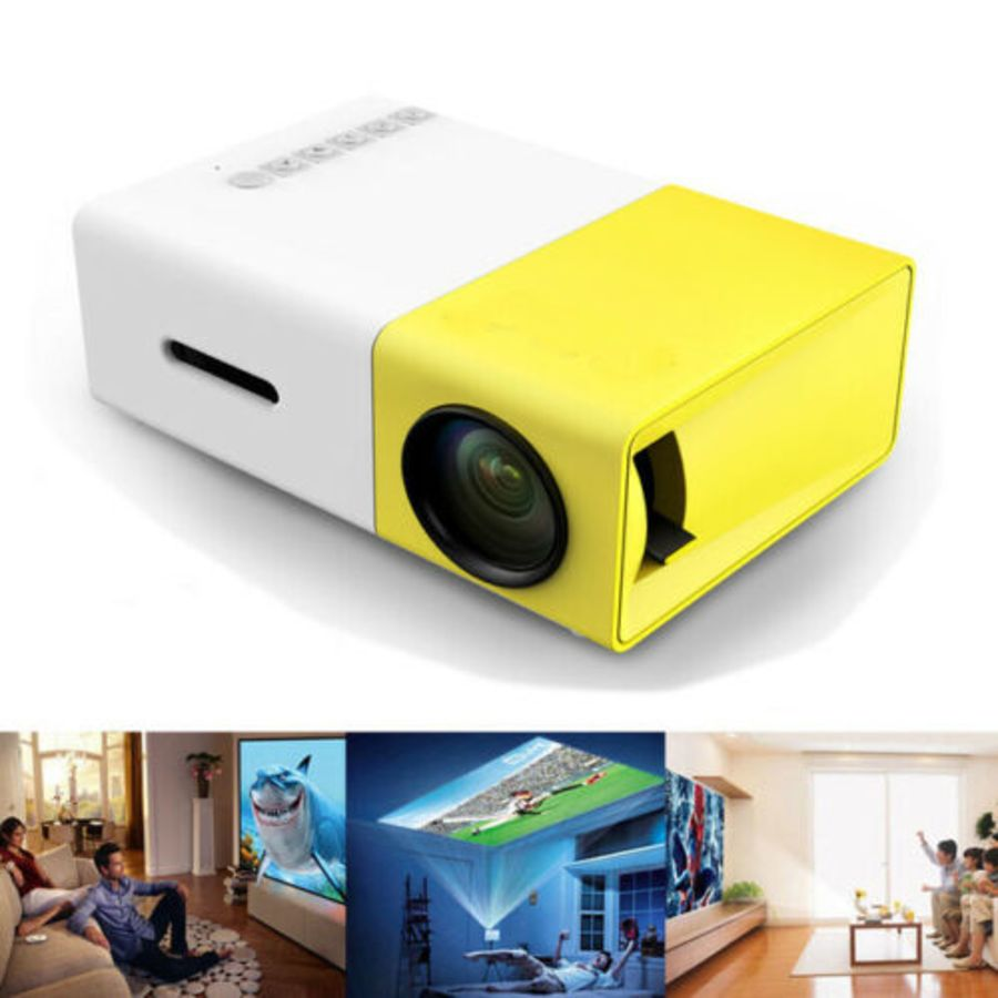 Mini Projector 1080p Led HD 4k 3D Home Cinema Theater Usb Hdmi Portable Av android iphone