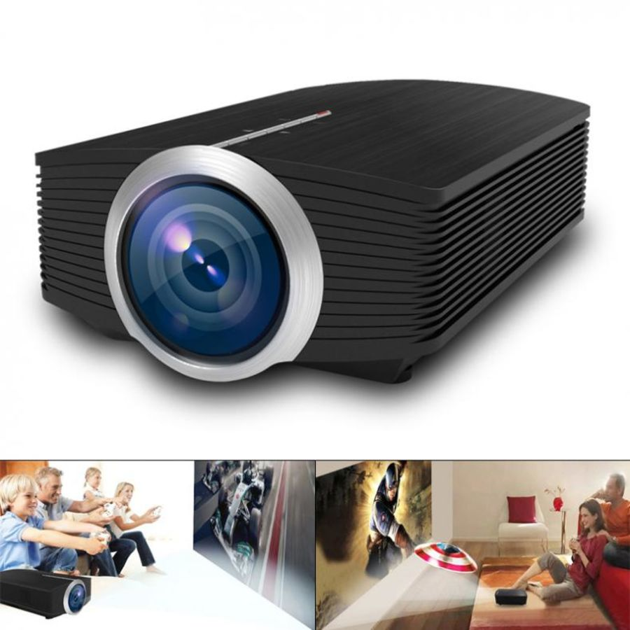 Portable LED Projector 1080P HD 1800 Lumens Hdmi Home Cinema Theater System pc, laptop