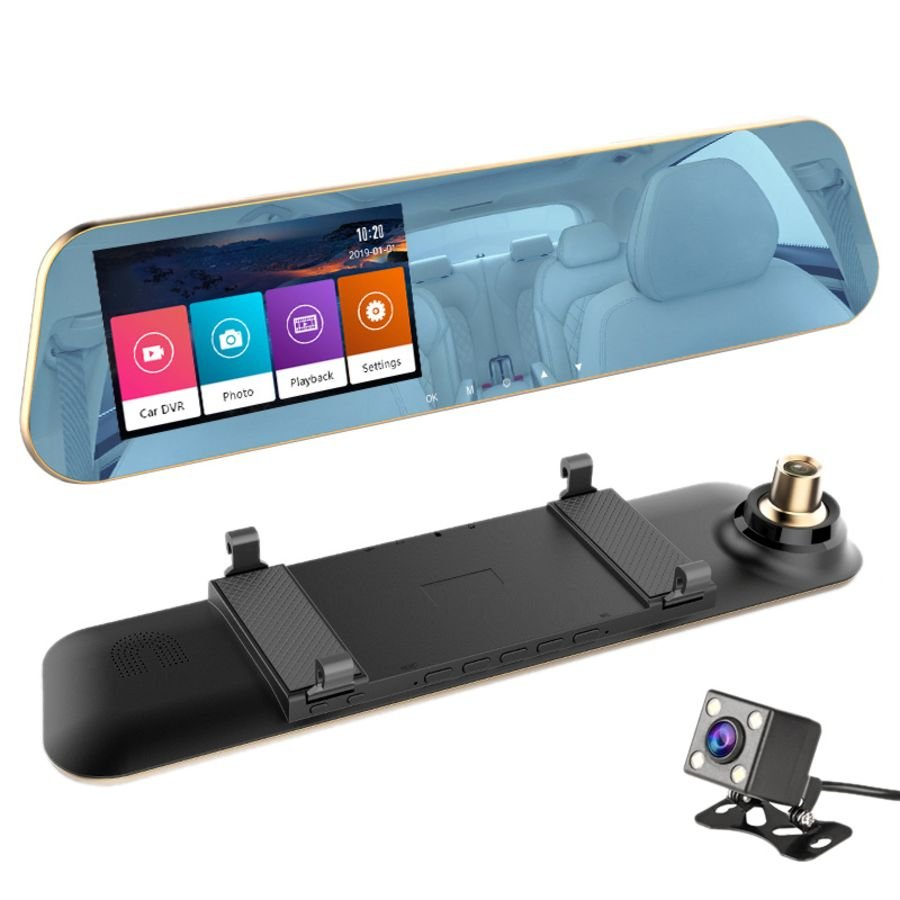 Car Dvr Dash Camera front rear Night Vision hd1080p Cam Video Recorder Dual Lens