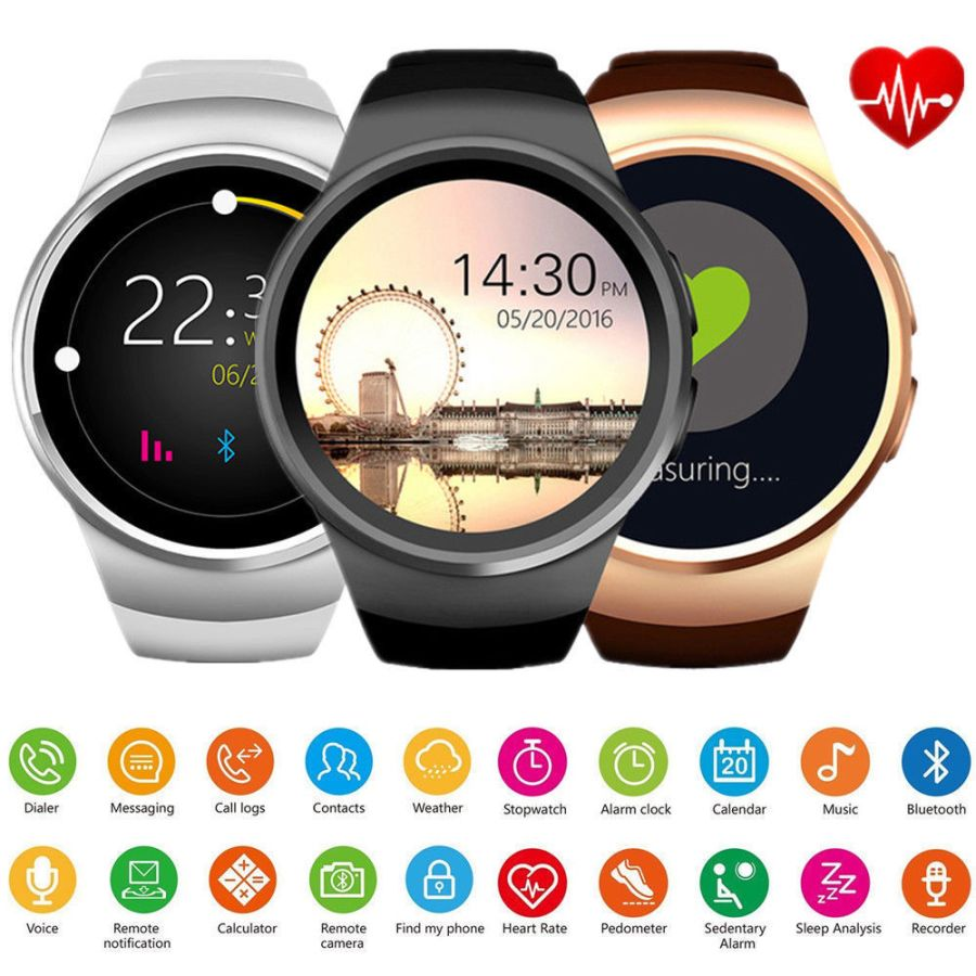 KW18 Smart Watch Waterproof Bluetooth Sim Phone Mate For Android iOS Samsung