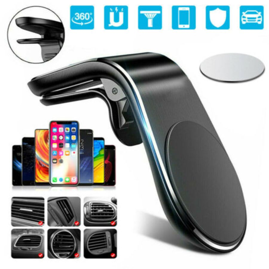 Universal Magnetic Car Mobile Phone Holder Air Vent Mount 360 Rotating for iPhone Samsung