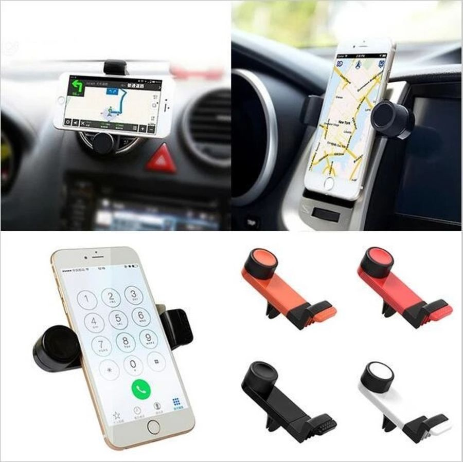 Car Interior AC Vent Mount for Phone Automobiles Air Outlet 360 Rotary GPS Navigator Holder Bracket Soporte Movil Coche Clip