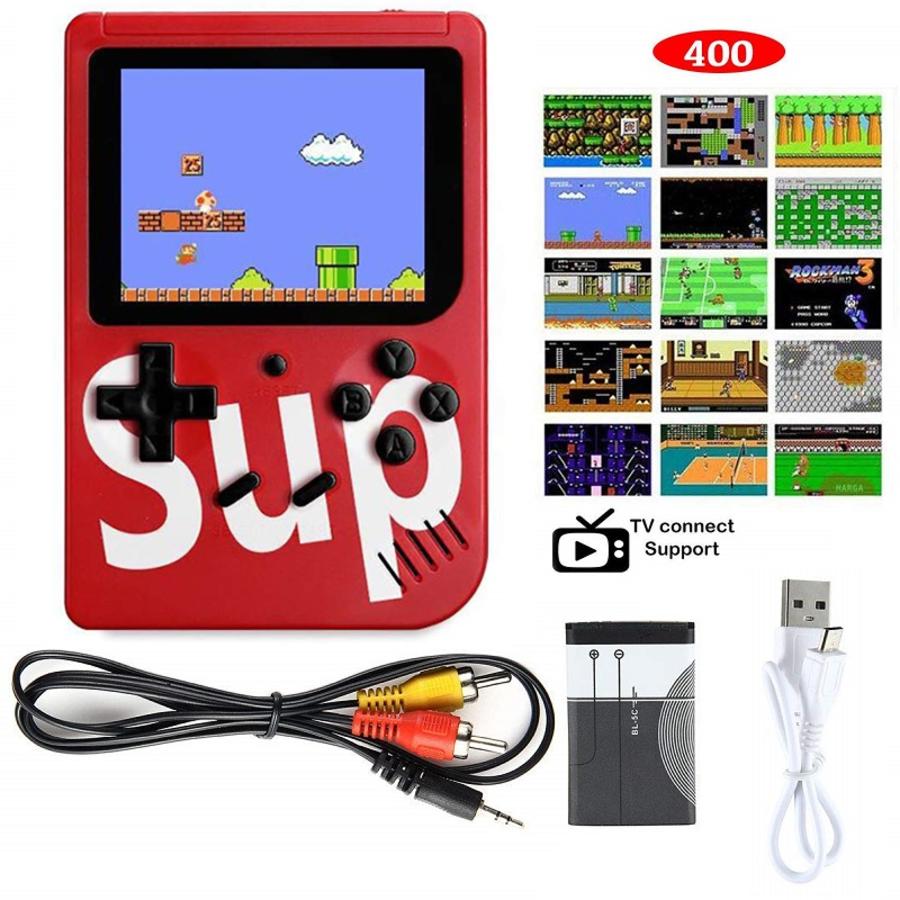 400 in 1 Sup Retro Nostalgia Classic Games Handheld Game Console Gamepad Red
