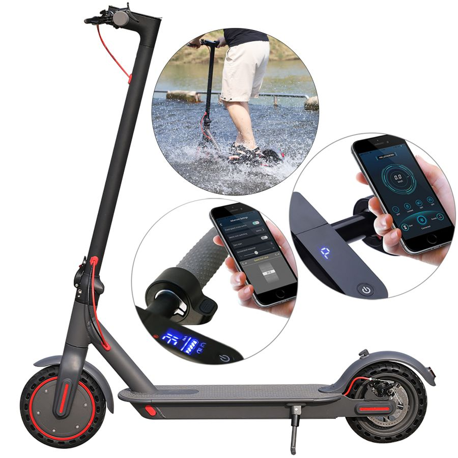 AOVO Pro APP M365pro Foldable Waterproof 10.4AH 35Km 350W 2 Wheels Double Suspension Adult pure Electric Scooter.