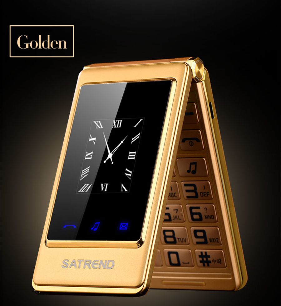 A15 dual sim flip mobile phone high quality unlocked Touch screen dual screen Senior Mobile Cell Phone