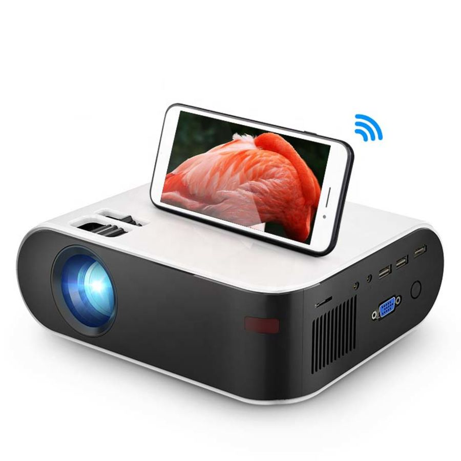 Mini Projector W18C, 2800 Lumens, 854*480P, Wireless Sync Display For Phone, Portable Beamer for Full HD 1080P Home Cinema
