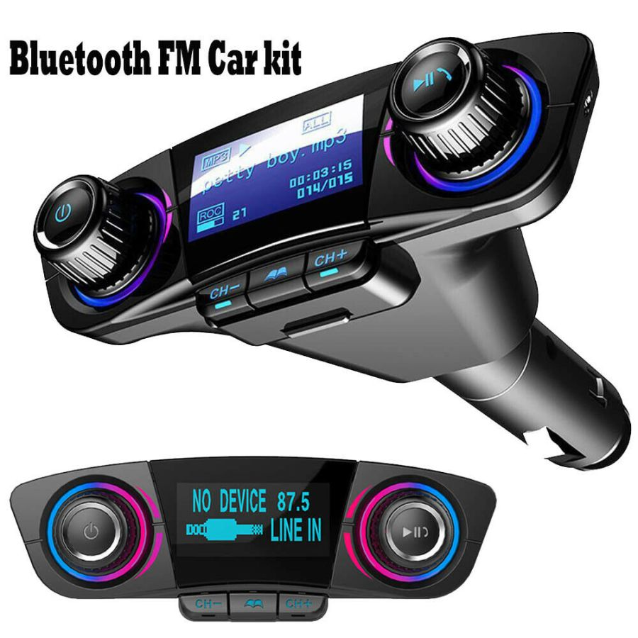 Car FM Transmitter Wireless Bluetooth Handsfree Kit MP3 Player USB Charger WT