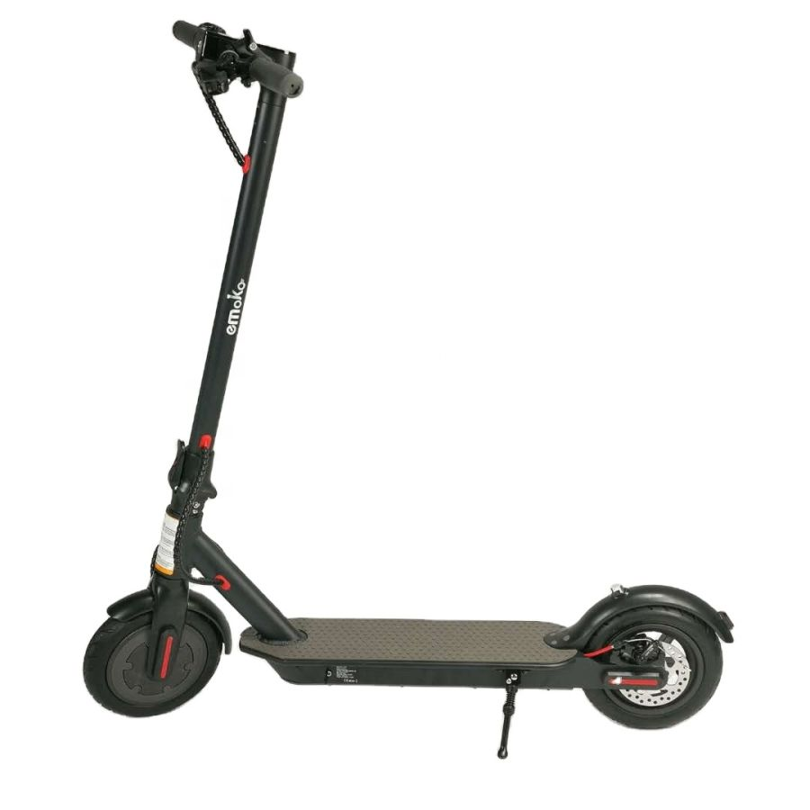Adult Electric Scooter 350w Lightweight Three Speed Modes 25KM Long Range Off Road Black