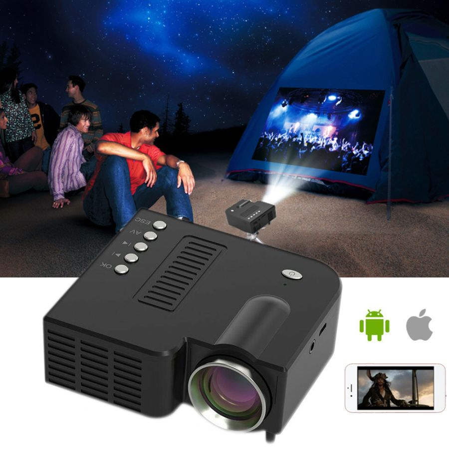 Mini Portable LED Projector 1080P HD Home Cinema Theater System For Android apple Phone
