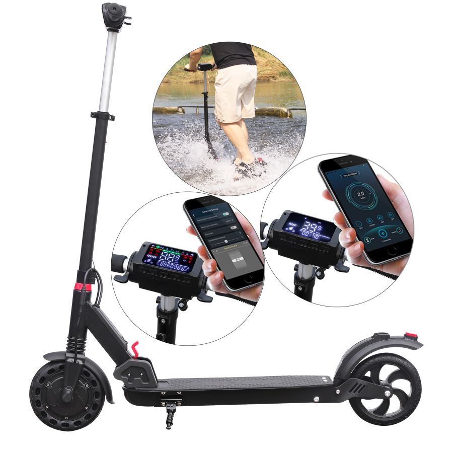 Aovopro 350W Motor Double Brake 25Km Range Waterproof IP65 8inches Foldable Electric Scooter Adult