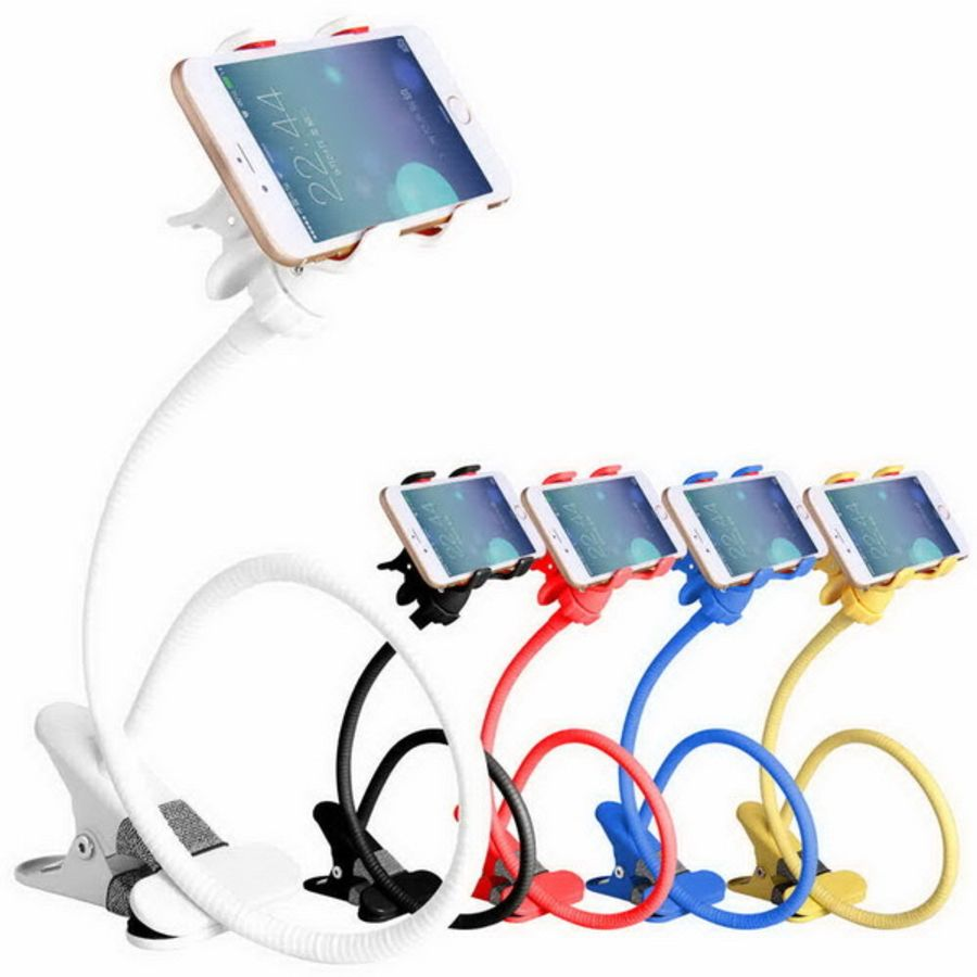 Universal Flexible 360 Clip Mobile Cell Phone Holder Lazy Long Arm Desktop Mount Stand