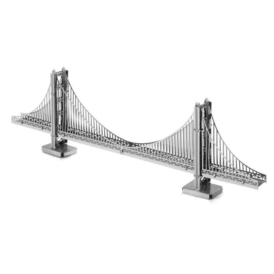 Golden Gate Bridge Metal Earth Model 3D Puzzle Kit Mens Gadget Gift Nano