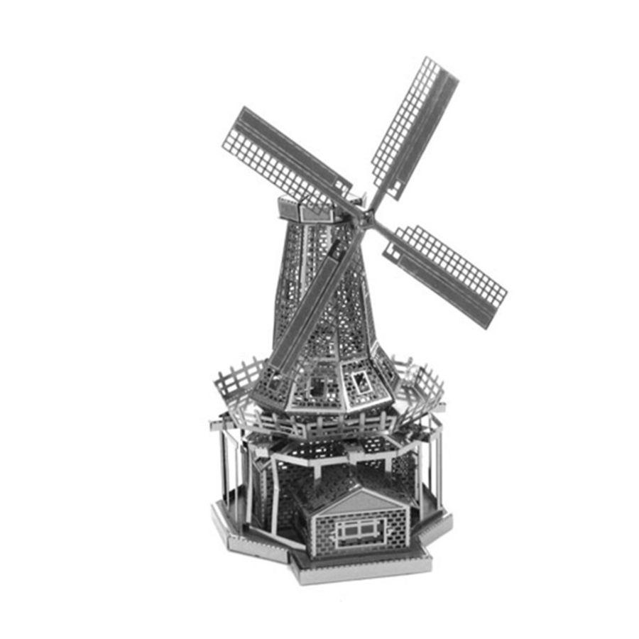 Windmill Metal Earth Model 3D Puzzle Kit Mens Gadget Gift Nano