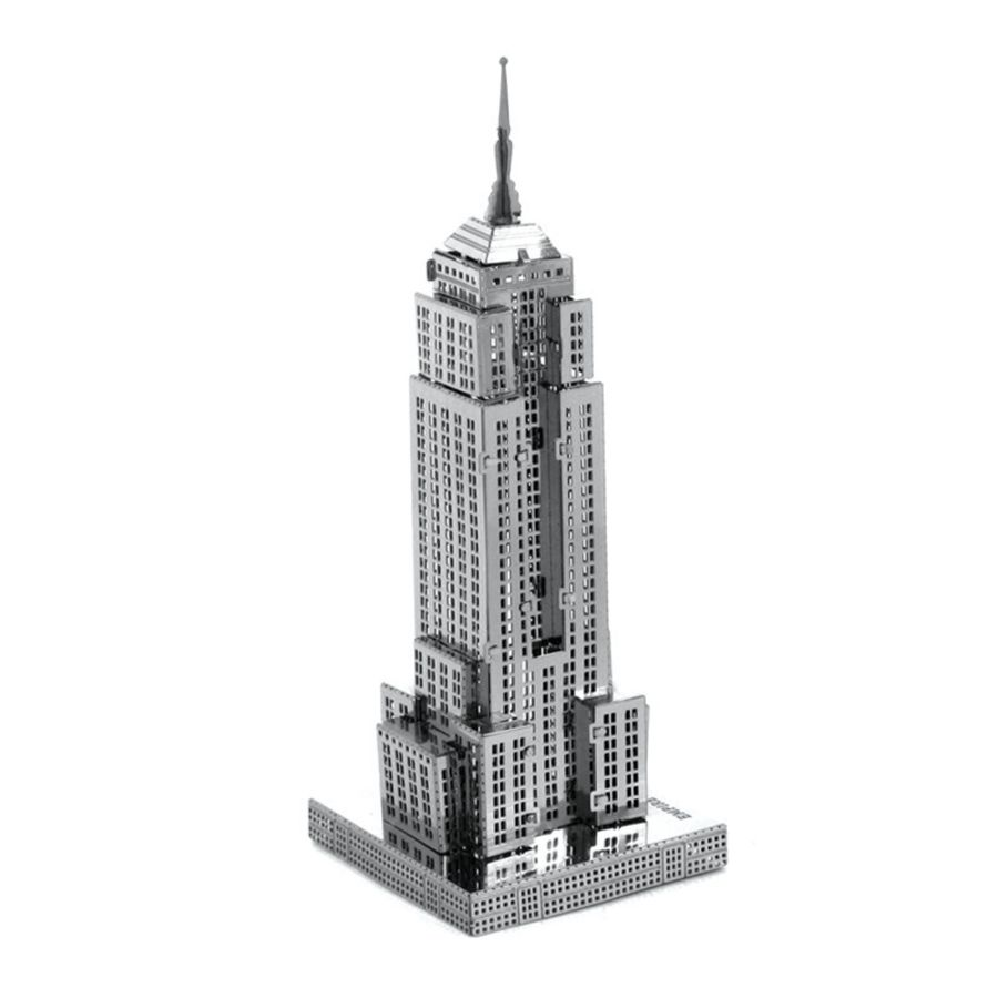 Empire State Building Metal Earth Model 3D Puzzle Kit Mens Gadget Gift Nano
