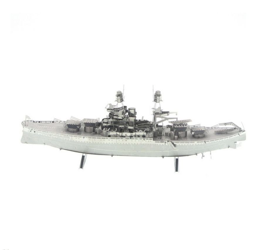 Warship Boat Metal Earth Model 3D Puzzle Kit Mens Gadget Gift Nano