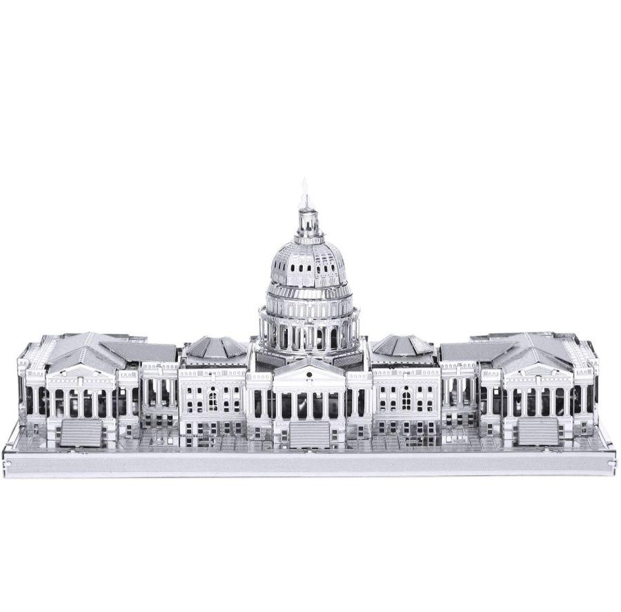 Capitol Building Metal Earth Model 3D Puzzle Kit Mens Gadget Gift Nano