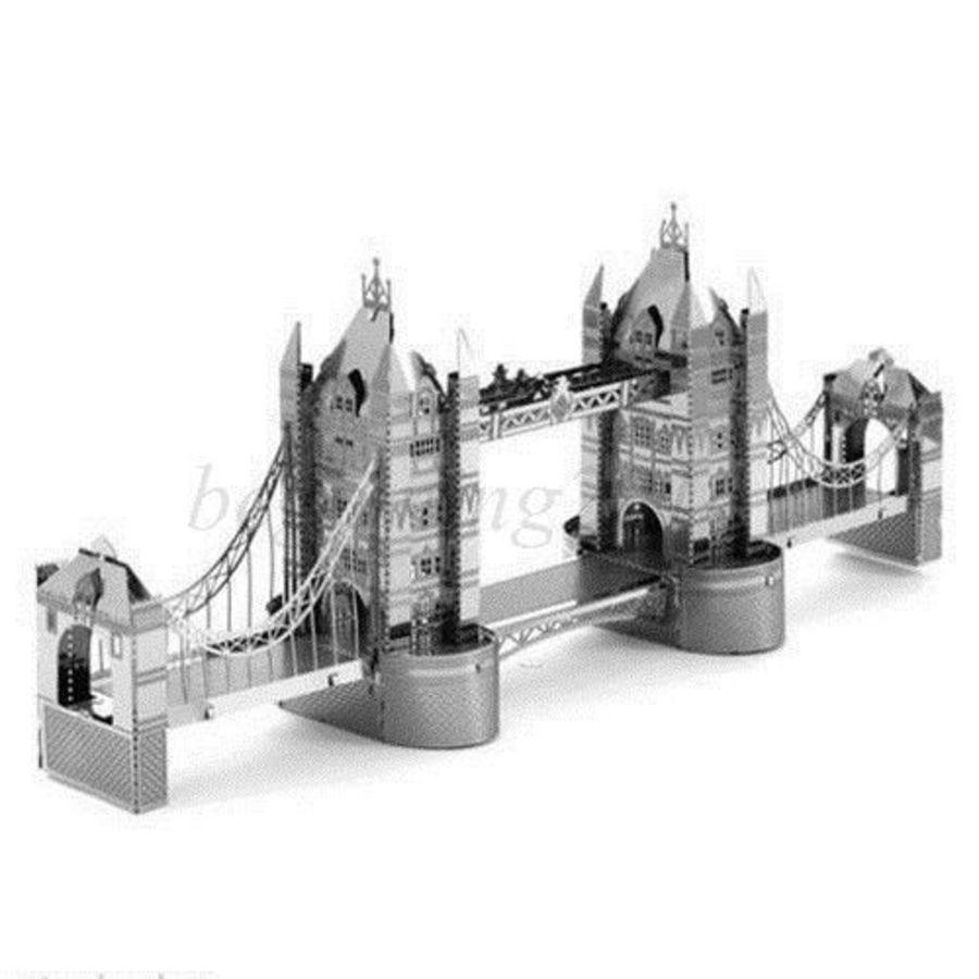 London Tower Bridge Metal Earth Model 3D Puzzle Kit Mens Gadget Gift Nano