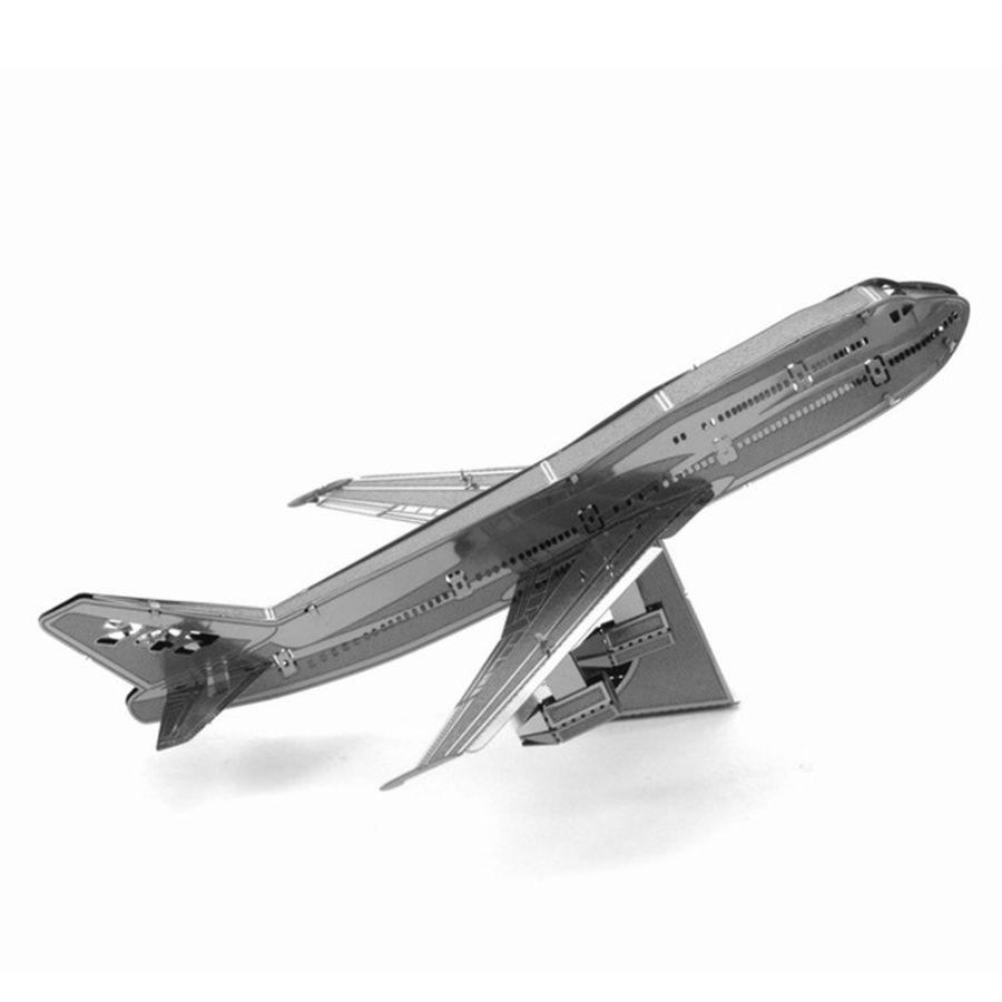 Boeing 747 Plane Metal Earth Model 3D Puzzle Kit Mens Gadget Gift Nano