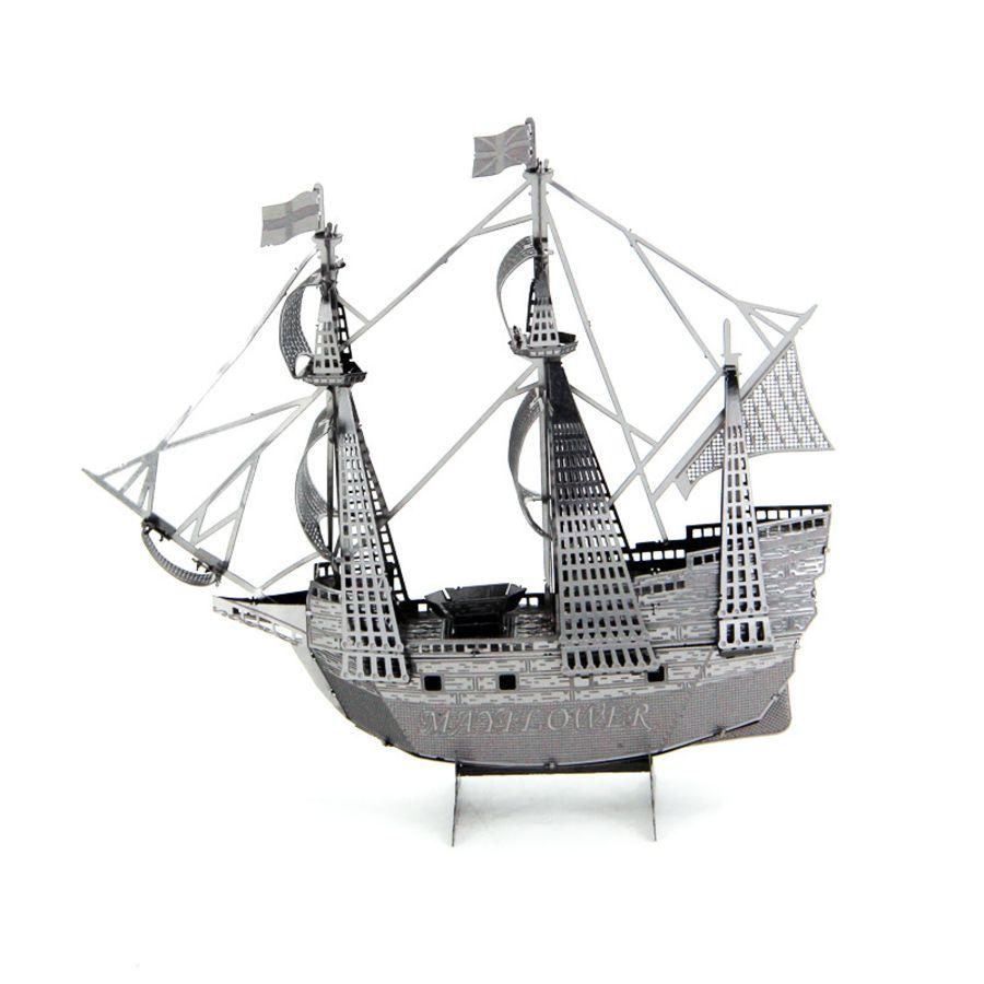 Mayflower Ship Boat Metal Earth Model 3D Puzzle Kit Mens Gadget Gift Nano