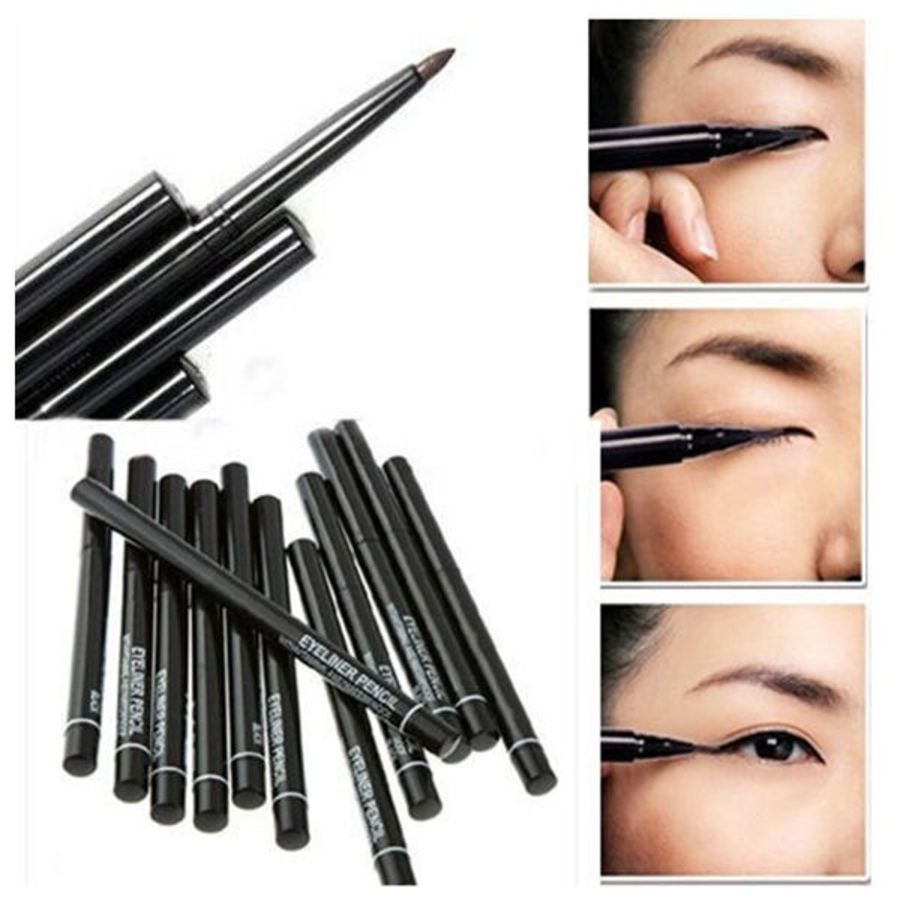 2 x RETRACTABLE BLACK / BROWN WATERPROOF EYELINER EYE LINER NOT AVON PENCIL