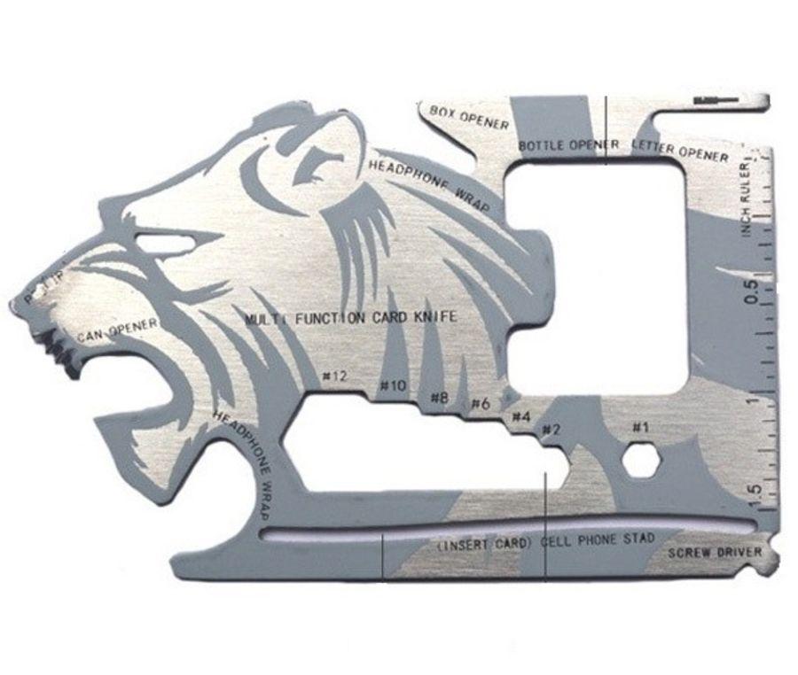 WALLET LION 18 IN 1 CREDIT CARD POCKET MULTI TOOL GADGET