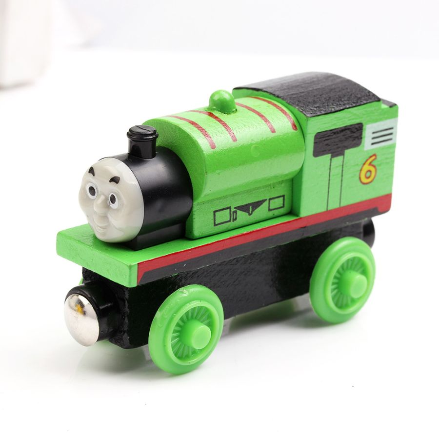 PERCY THE TANK ENGINE & FRIENDS WOODEN TOY TRAIN BRIO COMPATIBLE