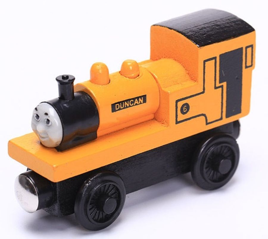 DUNCAN THE TANK ENGINE & FRIENDS WOODEN TOY TRAIN BRIO COMPATIBLE