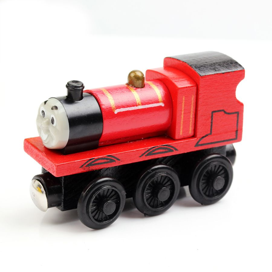 JAMES THE TANK ENGINE & FRIENDS WOODEN TOY TRAIN BRIO COMPATIBLE