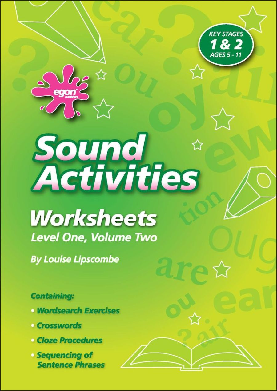 Sound Activities Worksheets: Level 1 Volume 2