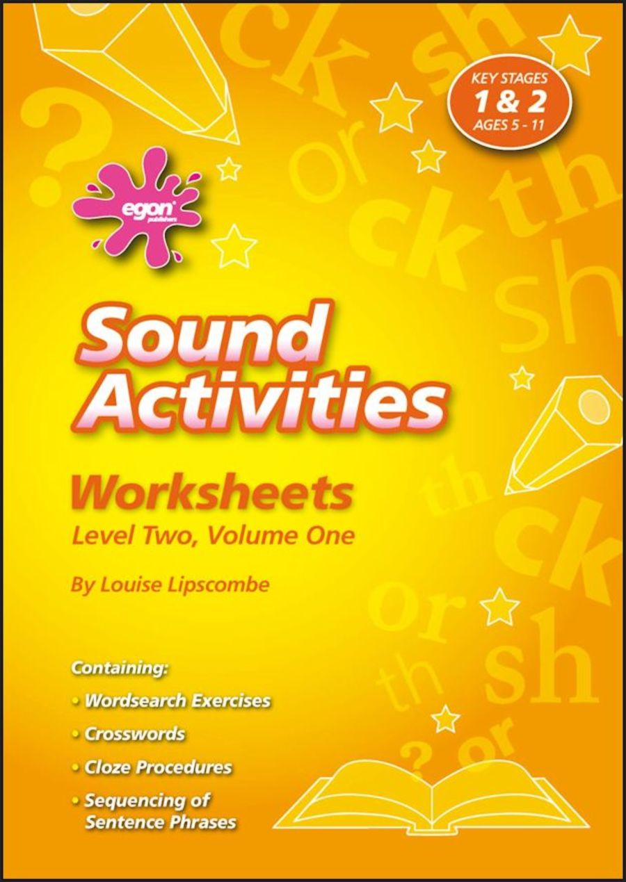 Sound Activities Worksheets: Level 2 Volume 1
