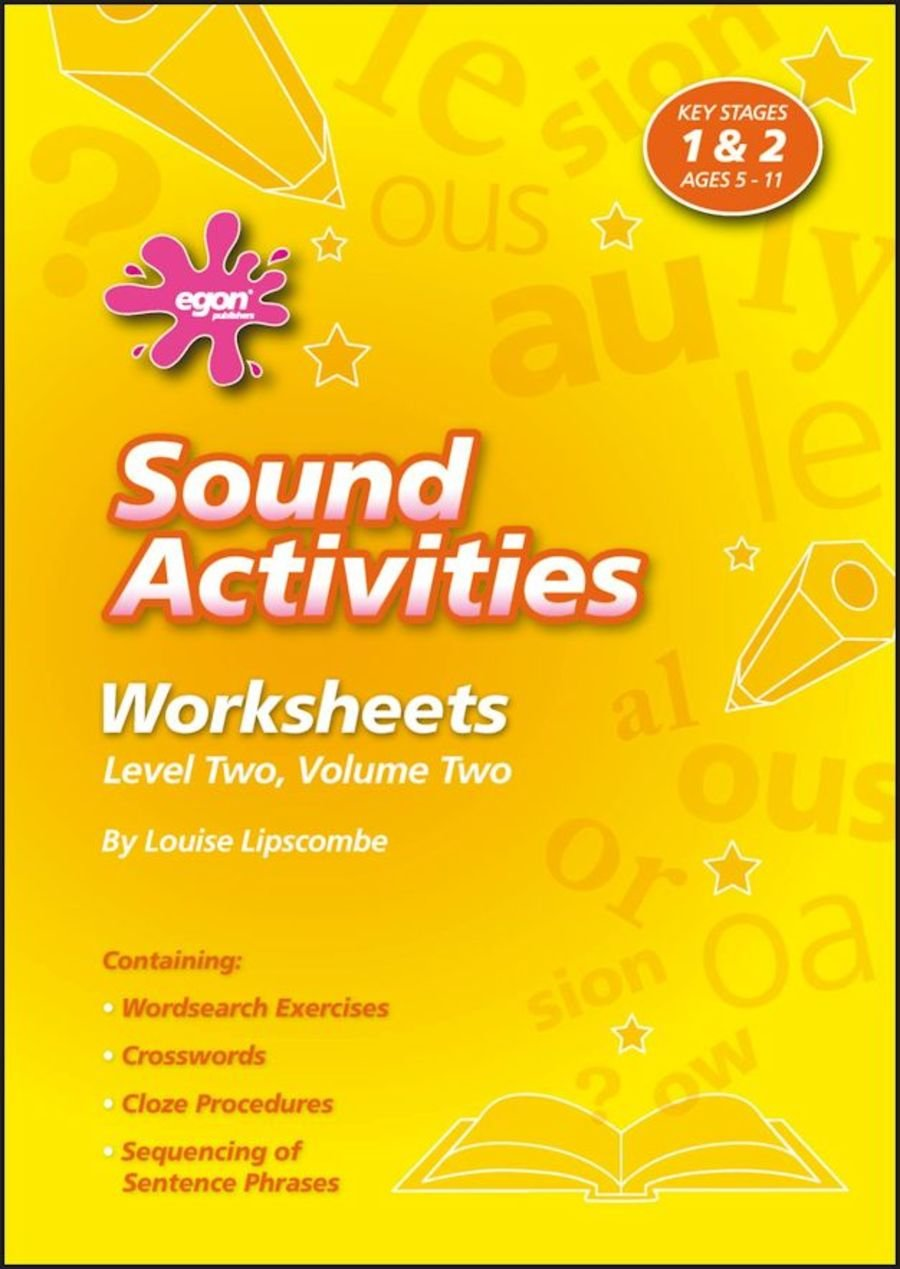 Sound Activities Worksheets: Level 2 Volume 2