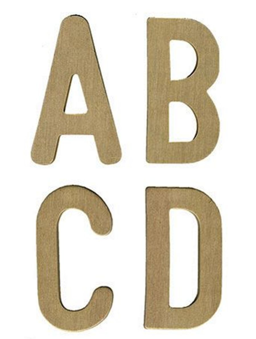 Upper Case Wooden Letters pack of 26