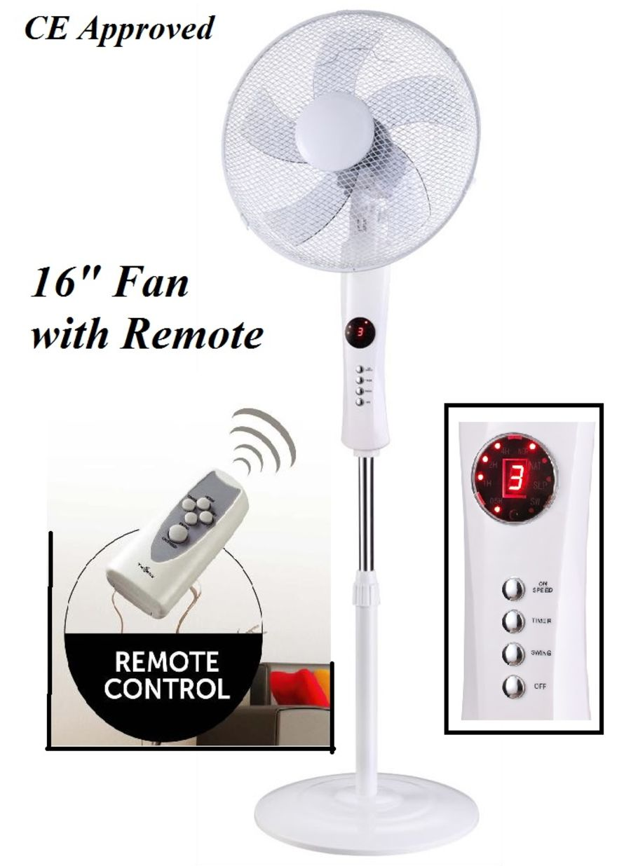 16in Stand Fan with Remote