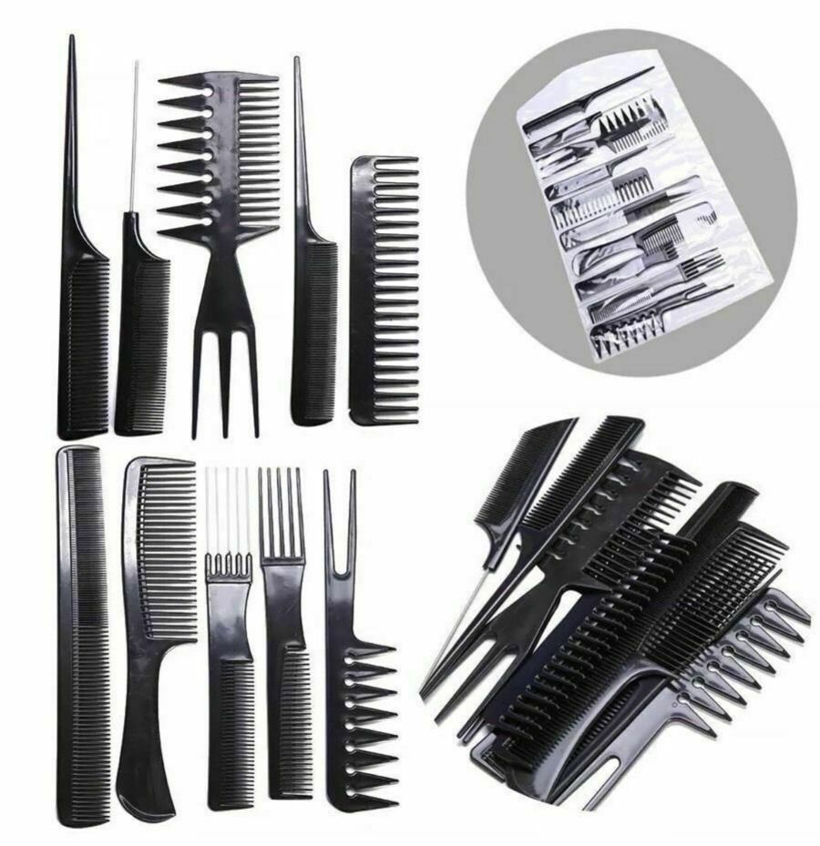 10 Hair Styling Comb Set
