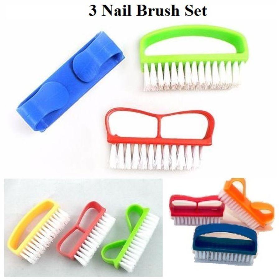 3 Manicure Nail Brush Set