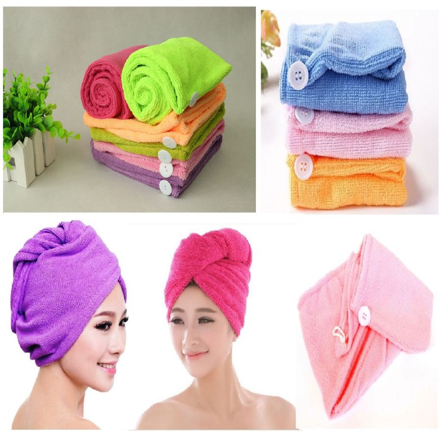 Quick Drying Hair Turban Towel