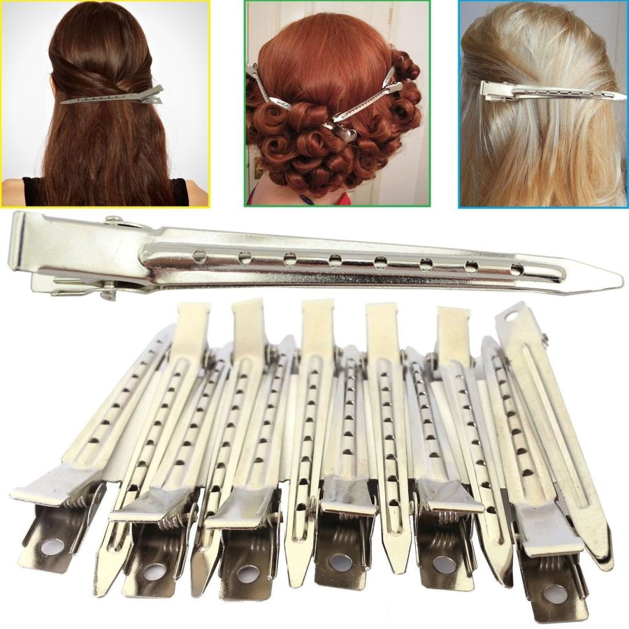 12 Metal Hair Sectioning Clip