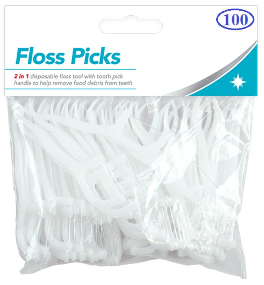 100 Dental Floss & Picks