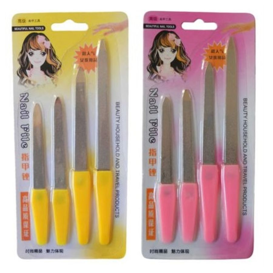 4 Double Sided Metal Nail Files