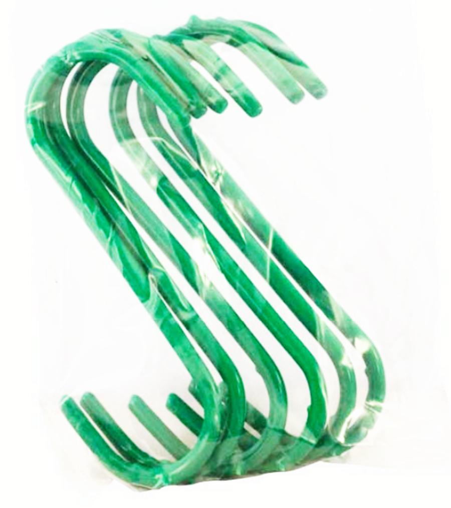 6 Strong Green S-Hooks