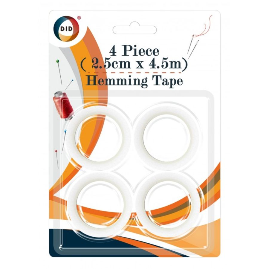 Fabric Hemming Tape Kit 2 Rolls Sewing Turn Up Hem Pins
