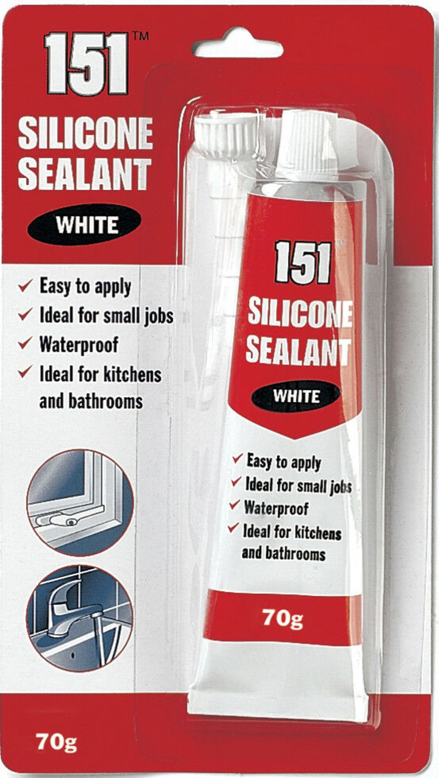 White Waterproof Silicone Sealant 70g_copy